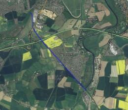 Sustrans cycle track runs past Bishopthorpe