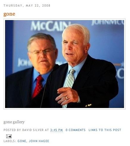 Pastor John Hagee with Senator McCain.