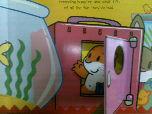 Pet shop book with nursery rhymes