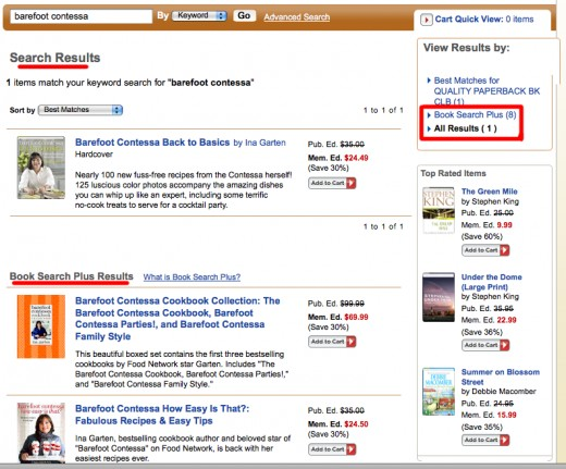 Search Results and Book Search Plus Results