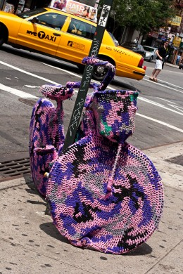 Crochet Bike by Olek