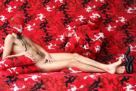 Camouflage Crochet by Olek