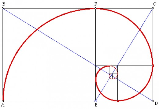 The golden ratio, as presented in this rectangle, can help with the composition of a photograph.