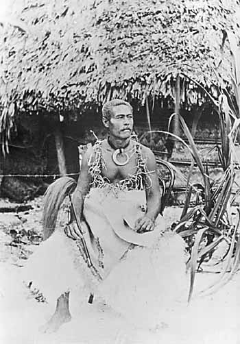 "This image was that of  Tui Manu'a Elisala -- ""the last sovereign of Manu'a Islands in the American Samoa"" from wikipedia"