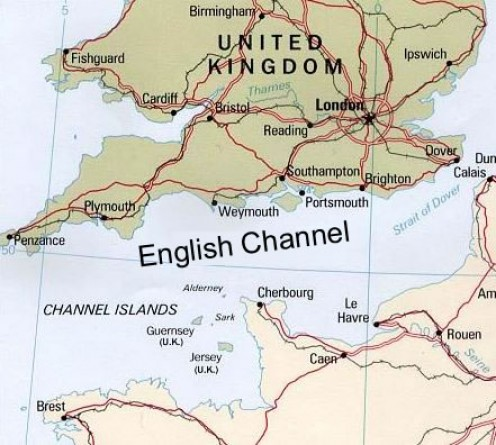 Lydd is situated by the Straits of Dover, English Channel