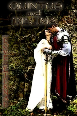 Quintus and Decima embrace while waiting under the marrying tree for Saint Valentine to arrive so he can join them in matrimony.