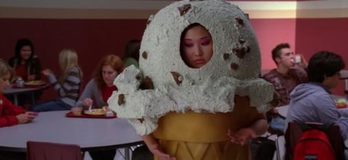 Mercedes started imagining Tina as an ice-cream cone