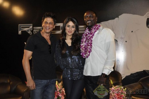 shahrukh, Kareena and Akon in Mumbai Press Conference