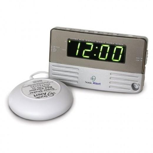 Loud alarm clock: Sonic Boom alarm clock does the trick!