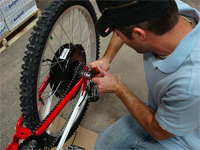 Installing an Electric Bike kit is a challenge