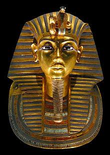 The burial mask of Tutankhamun