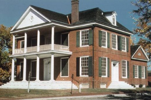 Grouseland, built by William Henry Harrison, in Indiana Territory and located in Vincennes, Indiana.