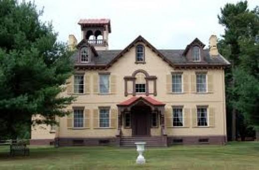 Lindenwald, Kinderhook, New York. Home of Martin Van Buren.