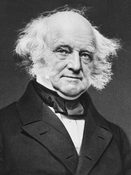 Dutch speaking Martin Van Buren, our 8th President.