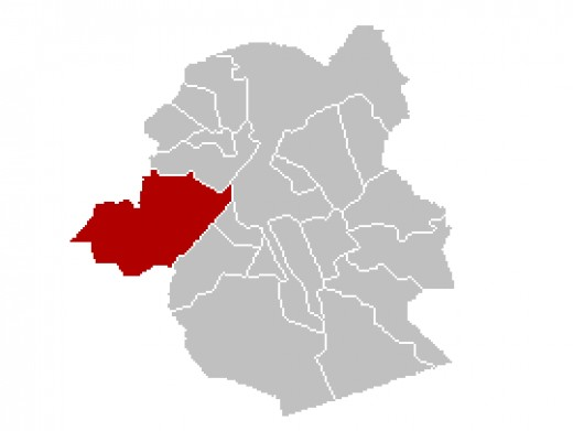 Map location of Anderlecht within Brussels Capital Region