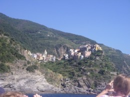 One of the Cinque Terre villages from the boat