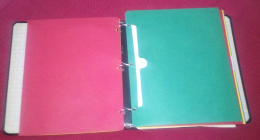 Even a simple three-ring notebook with pocket envelopes will help you to stay organized
