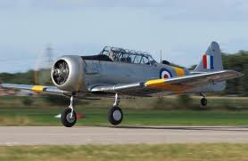 Next step from the Tiger Moth, the Harvard.  Spitfires were already old hat in 1948-9, so Bryan moved on to Vampires.