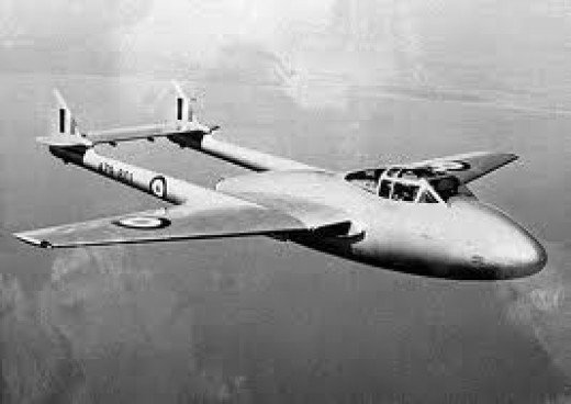A big drawback with the Vampire was its limited range.  It was a gas guzzler.  Bryan both flew operationally and trained others to fly this baby.