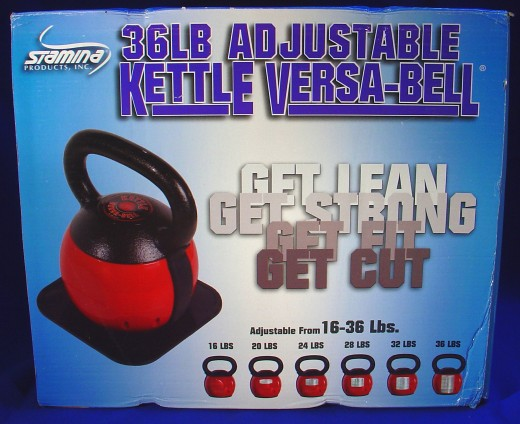 The Stamina 36-pound adjustable Kettle Versa-Bell - Still available at Amazon.  To find it, click on my Amazon links to the side, then select the Versa-bell from the offered list of alternative adjustable kettlebells