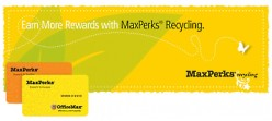 Recycle & Turn In Used Printer Ink Cartridges At Office Max & Earn Recycling Rewards Back