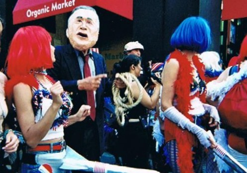 The Missle Dick Chicks, with George W. Bush, were on hand.
