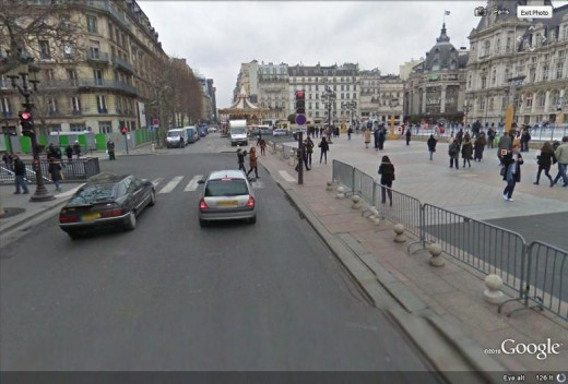 street view of Paris, France
