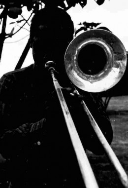 Street musician, Durban c1970