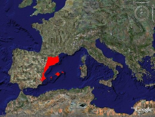 Catalan speaking area