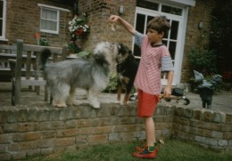 Tally (Tallulah Blankhead) a Stolen Norbury Mudhound and Andrew. (Zoki in the background, helping)
