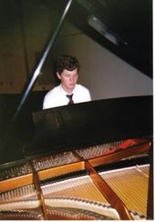 J.P. Dennis at a Steinway Piano at Tennessee Technological University in 2005.