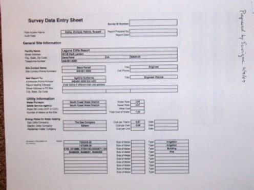 Data Gathering Sheet