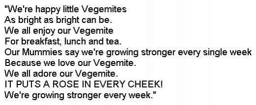 Jingle for Vegemite