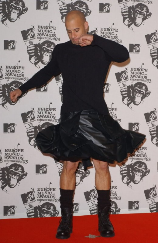 Vin Diesel in a Skirt