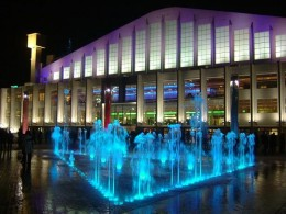 Wembley Arena at night