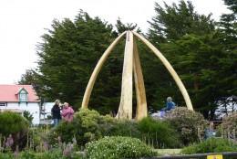 Whalebone Monument beside the Anglican Church.