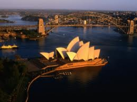 Beautiful Sydney Harbour where she grew up