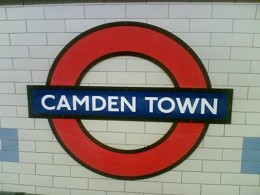 Camden Town Station Sign