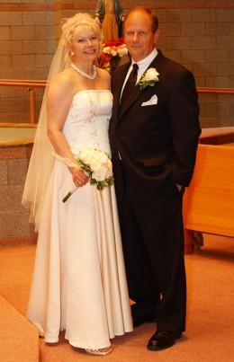 Wedding photo of Tina Boomerina's third marriage.