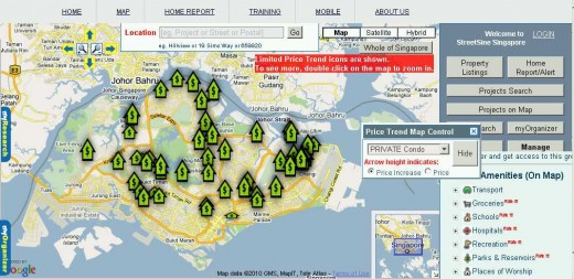Please visit the StreetSine.com portal for more in depth location aware analysis of Singapore property trends & data.