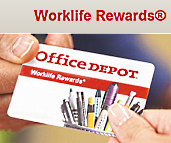Earn Reward Dollars Back With The Office Depot Worklife Rewards Program.