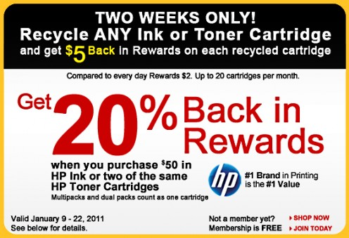 Ad Of A Special Promotion For The Worklife Rewards Program Effective Jan 9-22 2011.