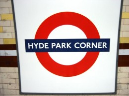 Hyde Park Corner station sign