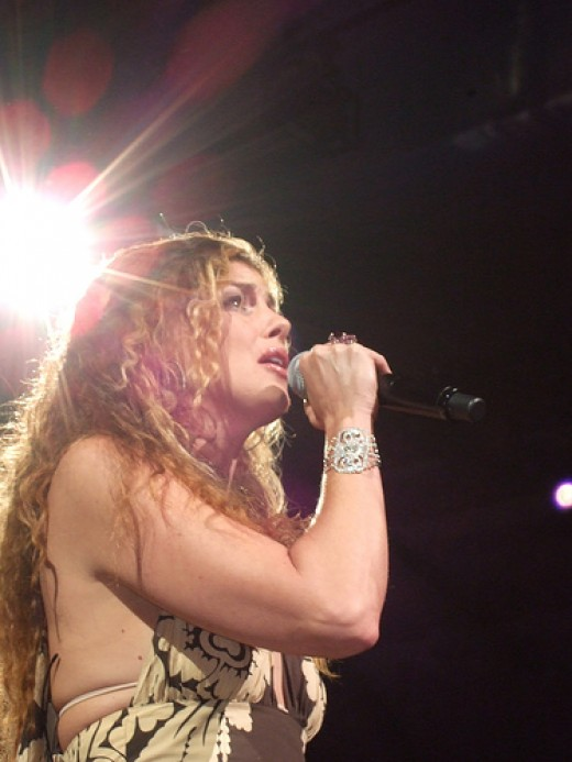 Faith Hill, in concert in Dallas in 2006.