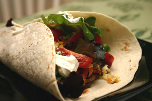 roasted vegetable fajita wrap