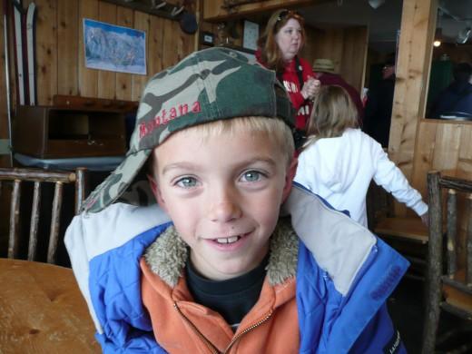 My Son at Jackson Ski Resort Lodge