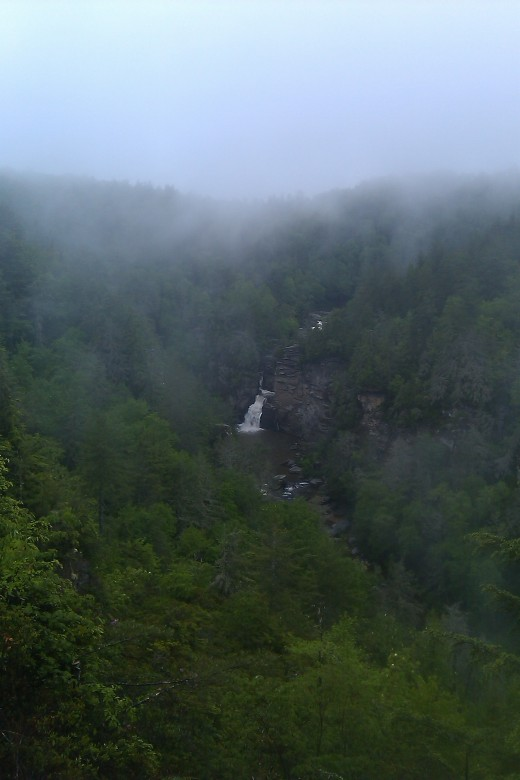 The misty view of Linville Falls