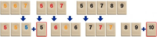 Manipulating is the most exciting part of the Rummikub game as players try to lay down as many tiles as possible by rearranging or adding to existing sets.