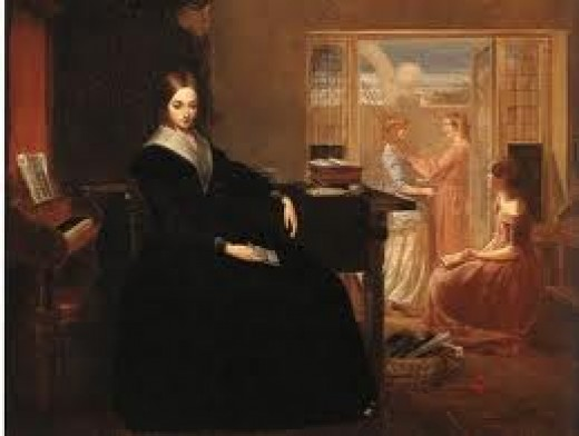 "The Governess. This was the only career open to  ""respectable poor"" ladies"