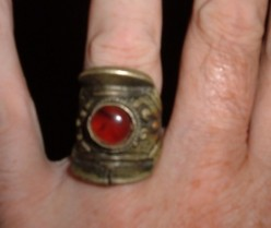 Tibetan rings and other types of Tibetan jewelry